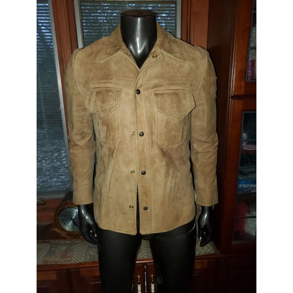 Austin Reed Jackets Coats Austin Reed Vintage 6s Tan Suede Jacket S Poshmark